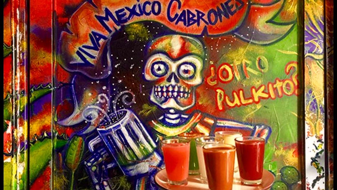 Pulque bar mural