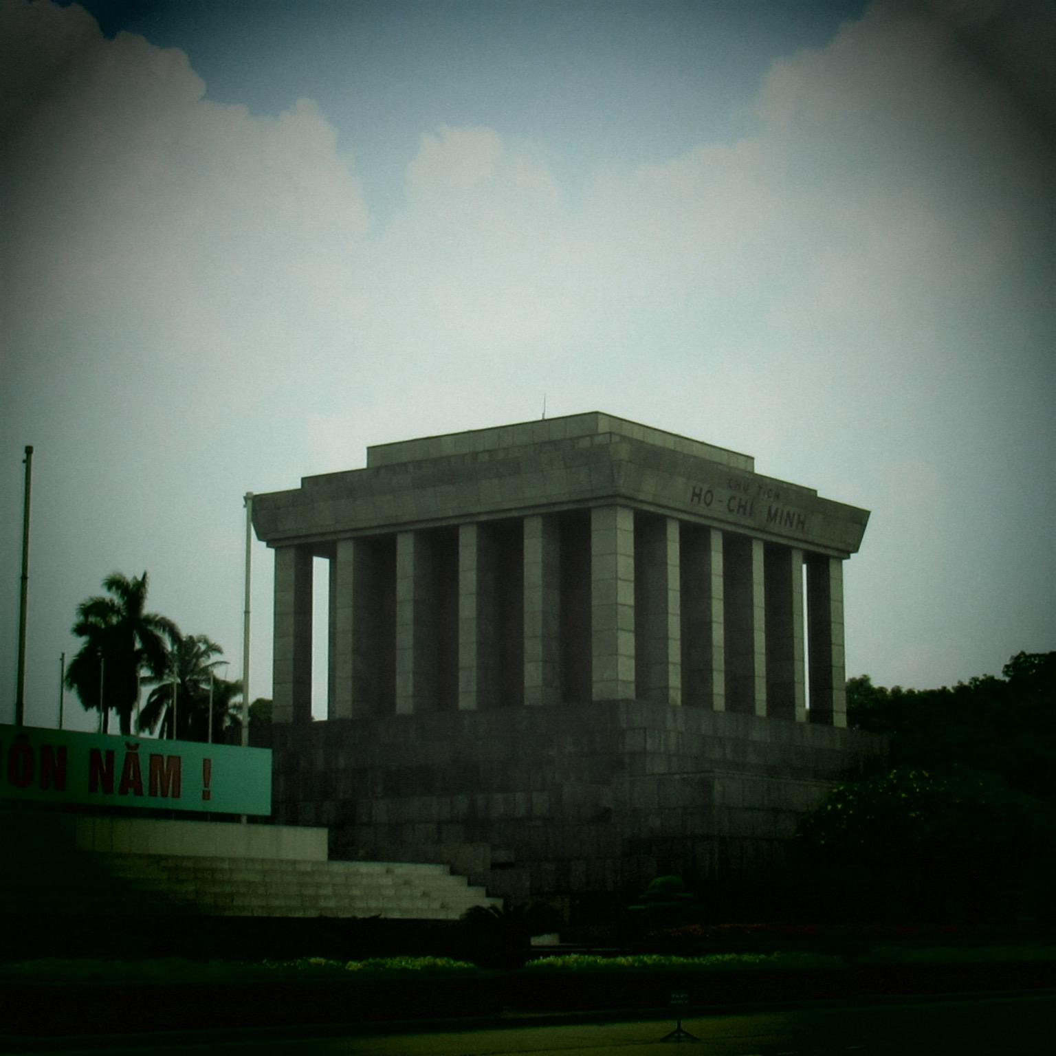 at Ho Chi Minh's tomb