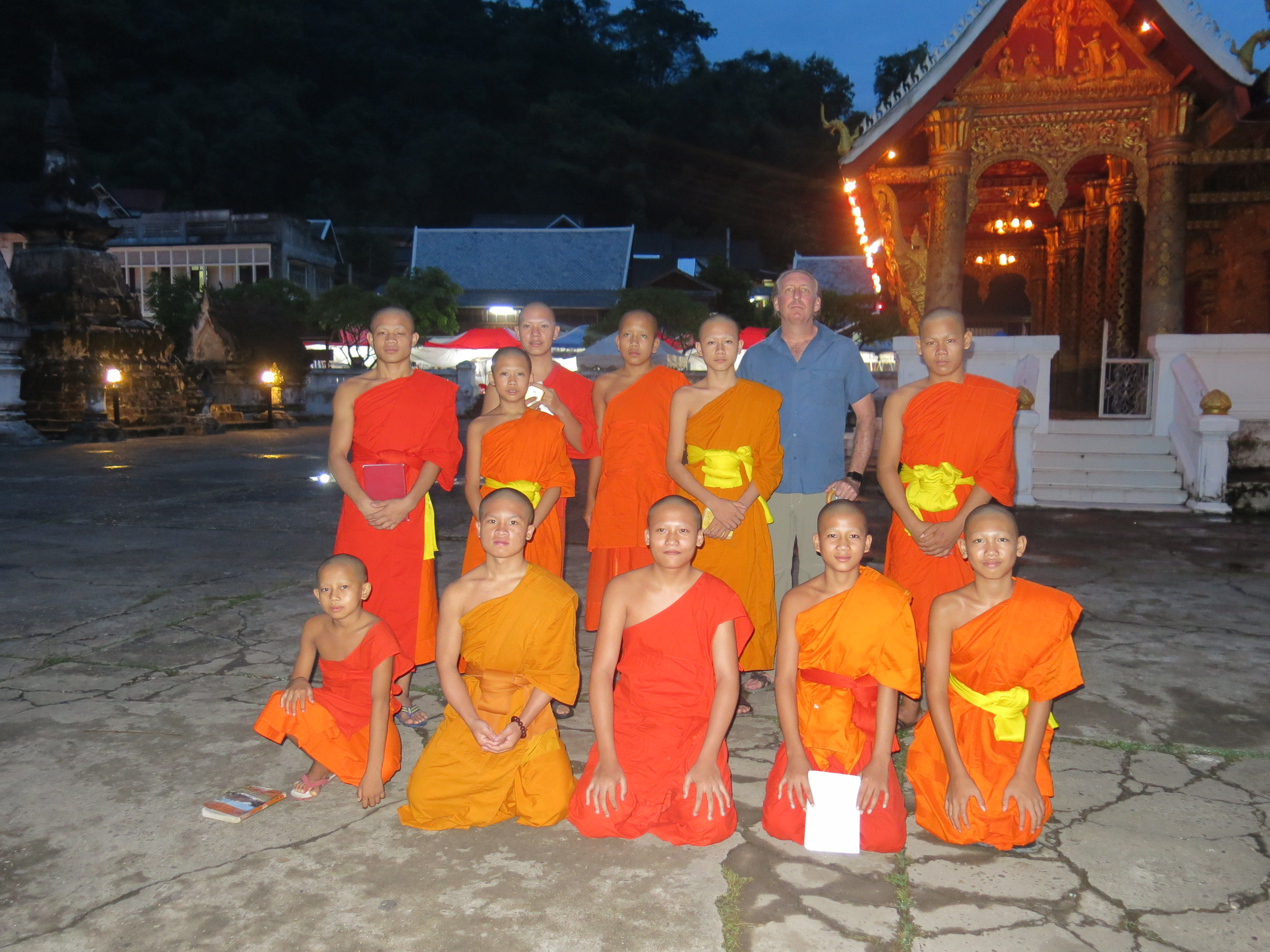 photo with the monks
