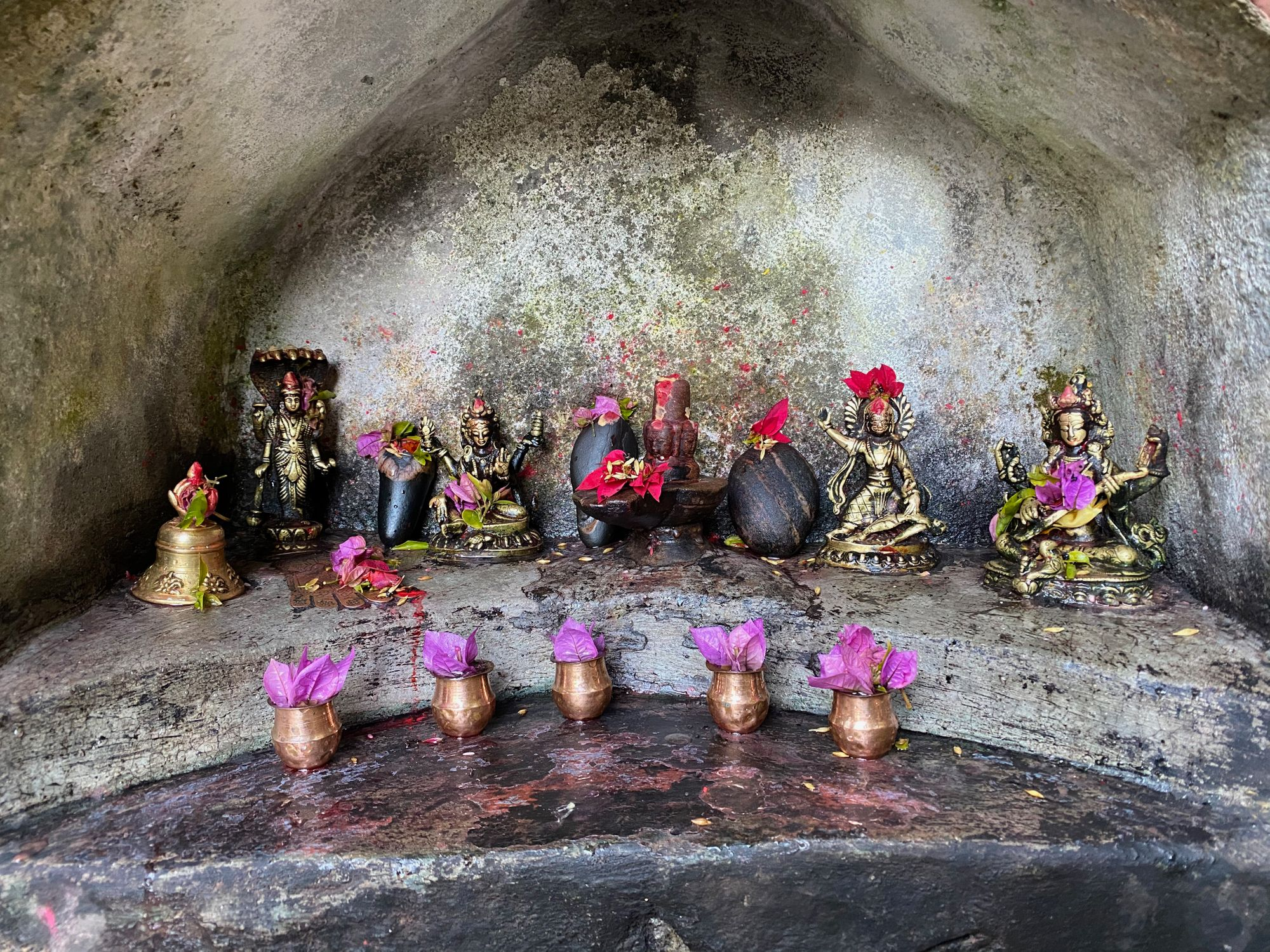 At a hillside shrine